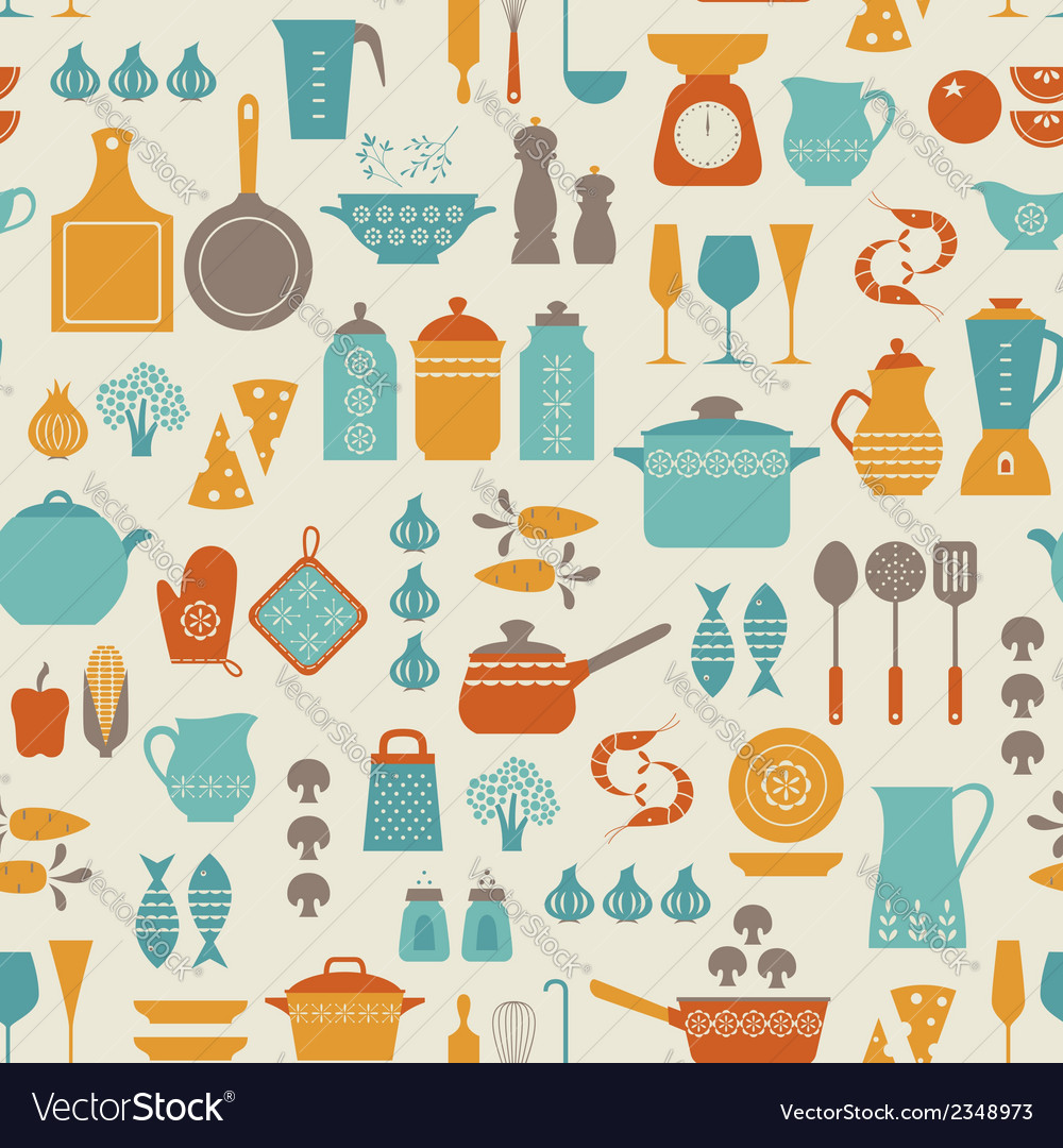 Kitchen pattern vector | Price: 1 Credit (USD $1)