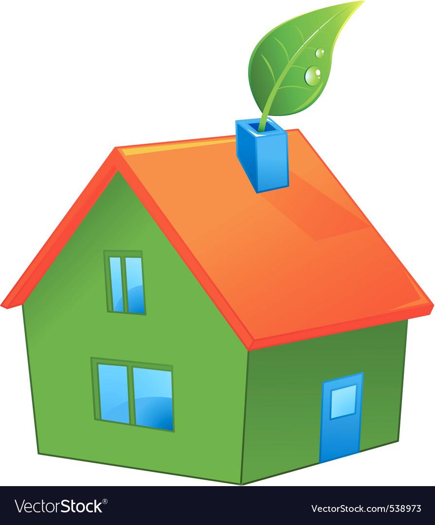 Organic green house vector | Price: 1 Credit (USD $1)