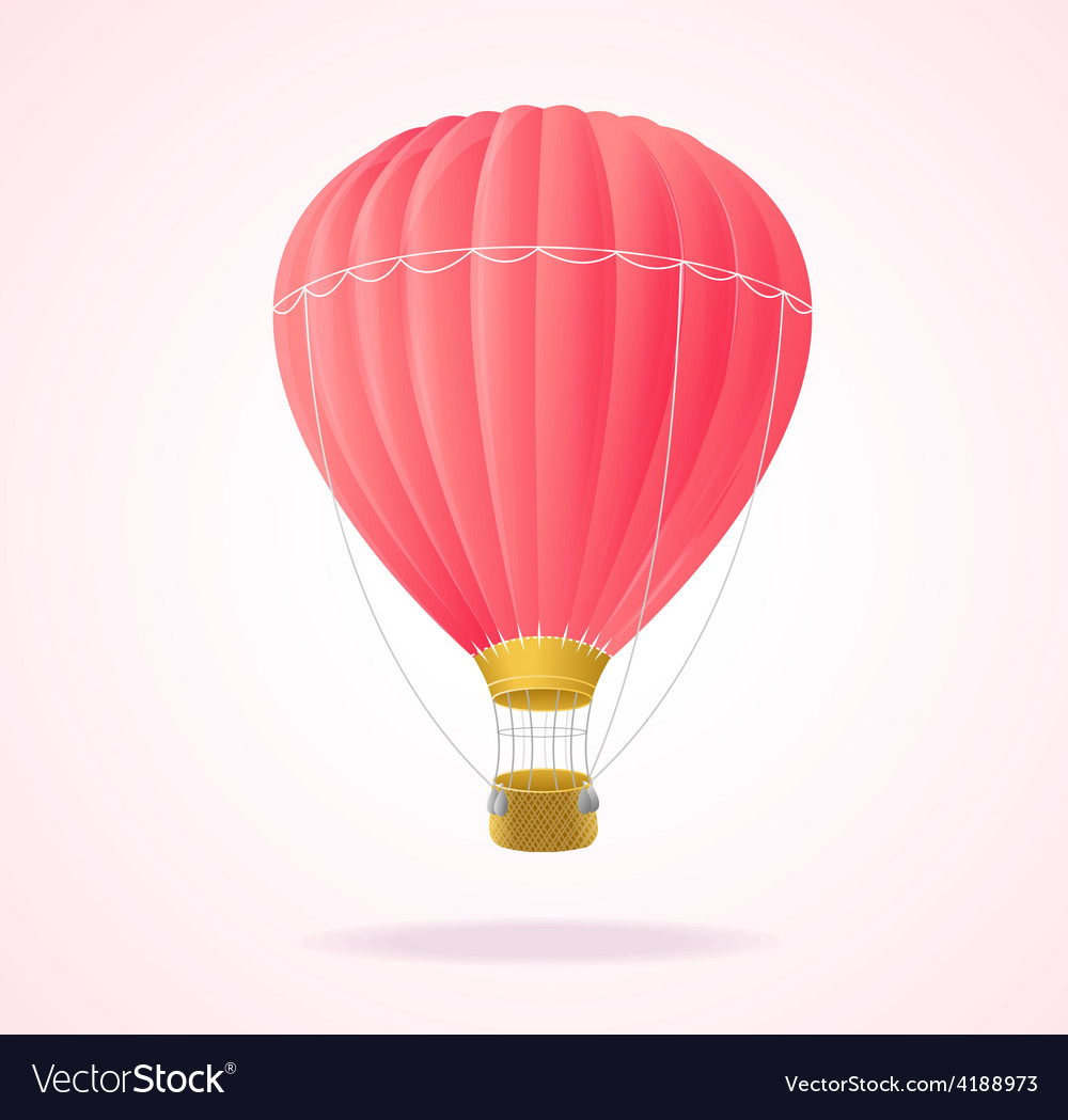Pink hotair ballons vector | Price: 1 Credit (USD $1)