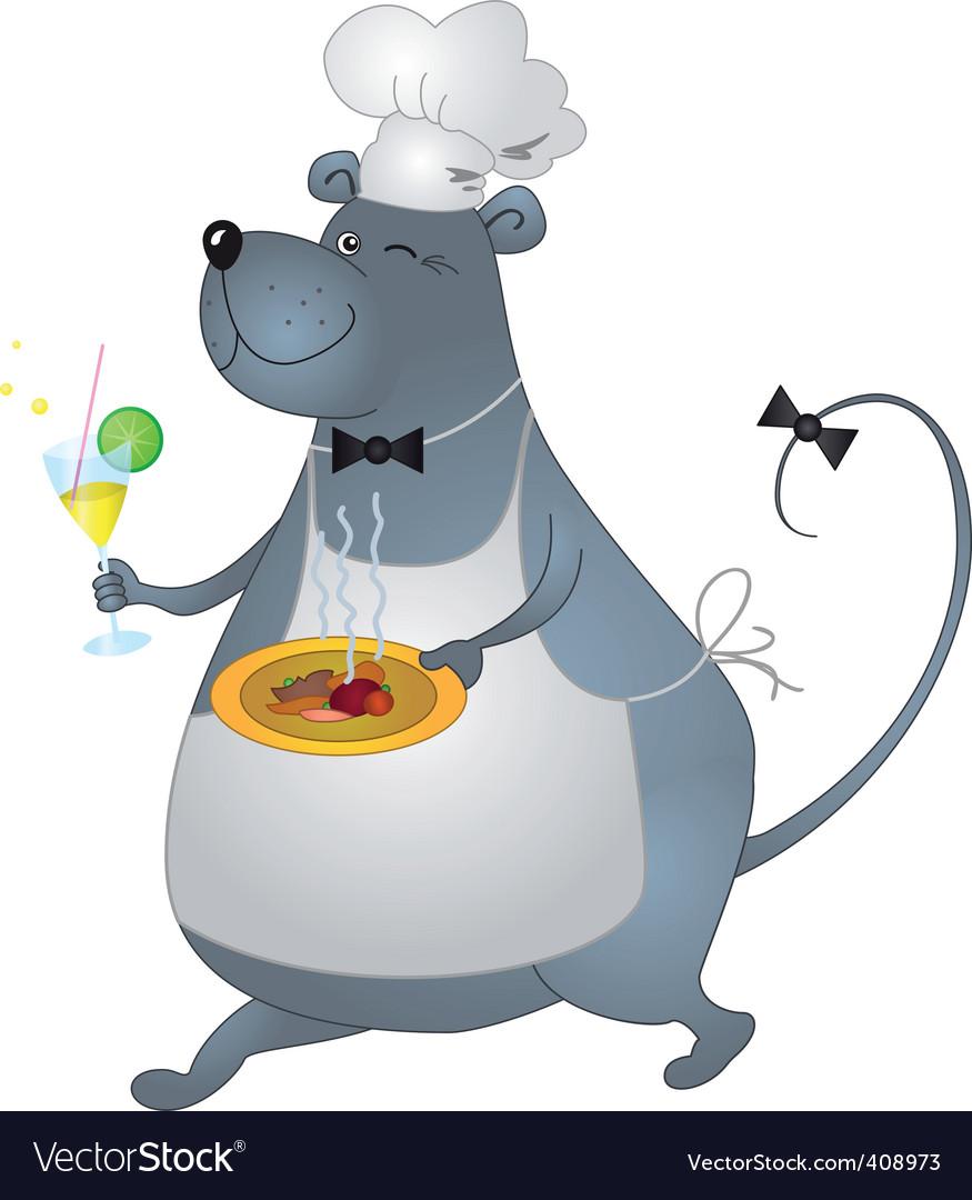 Rat cook vector   Price: 1 Credit (USD $1)