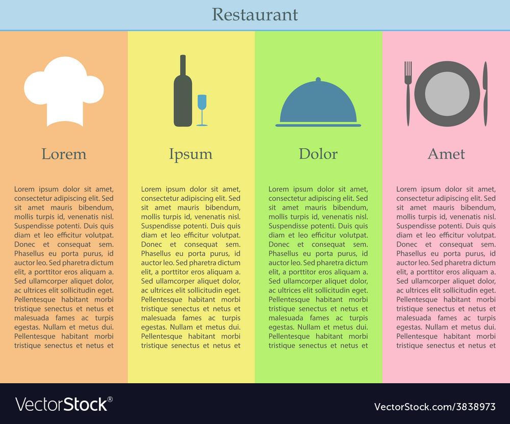 Restaurant infographics vector | Price: 1 Credit (USD $1)