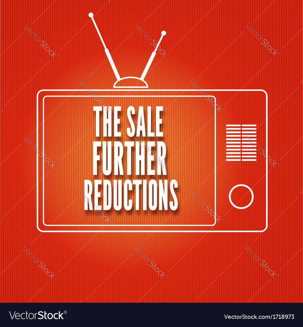Silhouette of a tv the sale further reduction vector | Price: 1 Credit (USD $1)