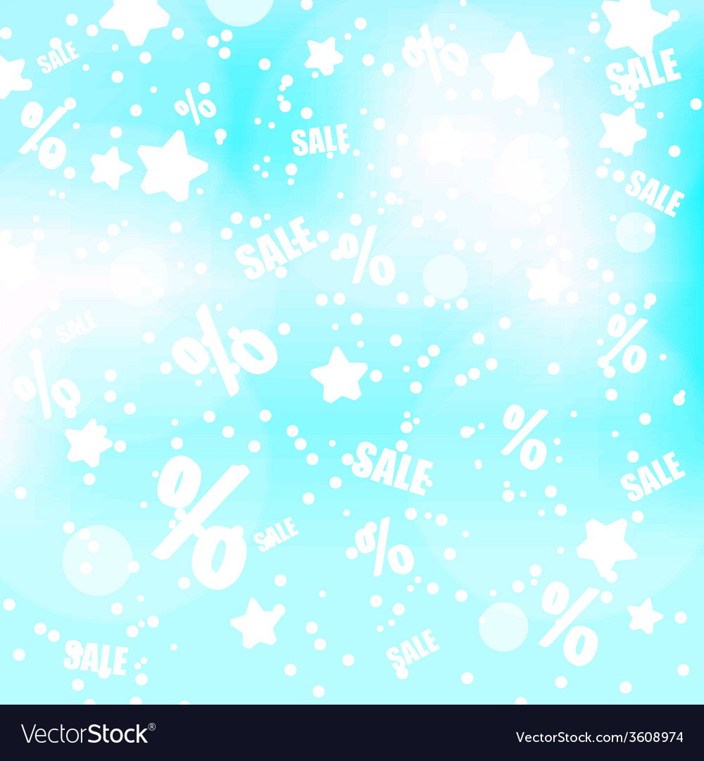 Abstract blue and gray dots stars and sale vector | Price: 1 Credit (USD $1)