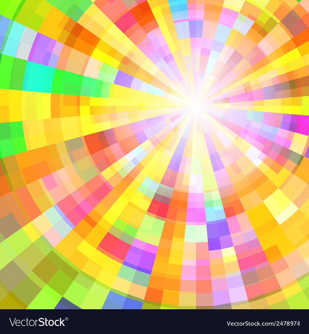 Abstract colorful circle tunnel background vector | Price: 1 Credit (USD $1)