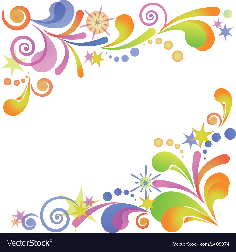 Abstract flourish colorful background vector | Price: 1 Credit (USD $1)
