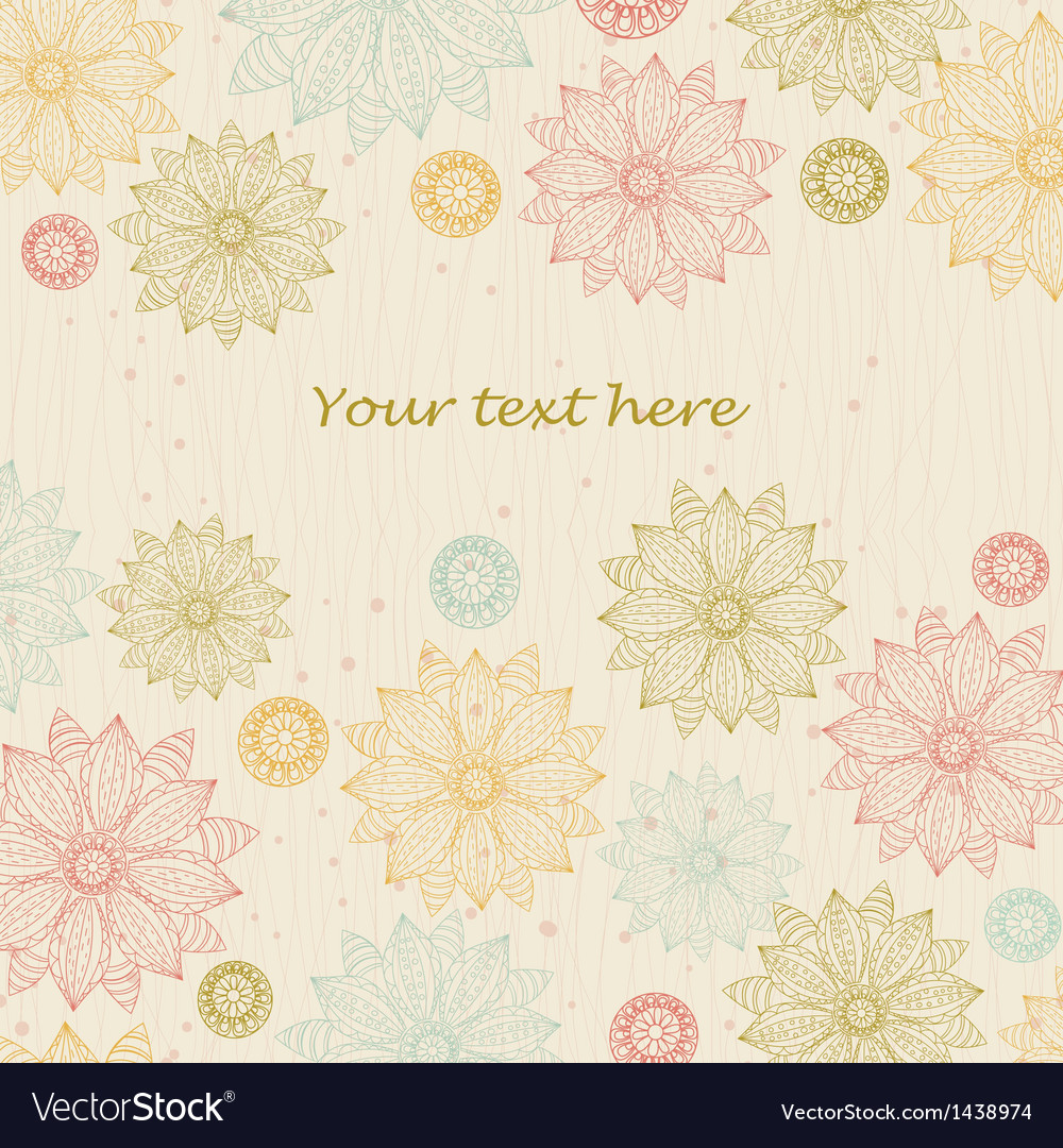 Beautiful floral background for text vector | Price: 1 Credit (USD $1)