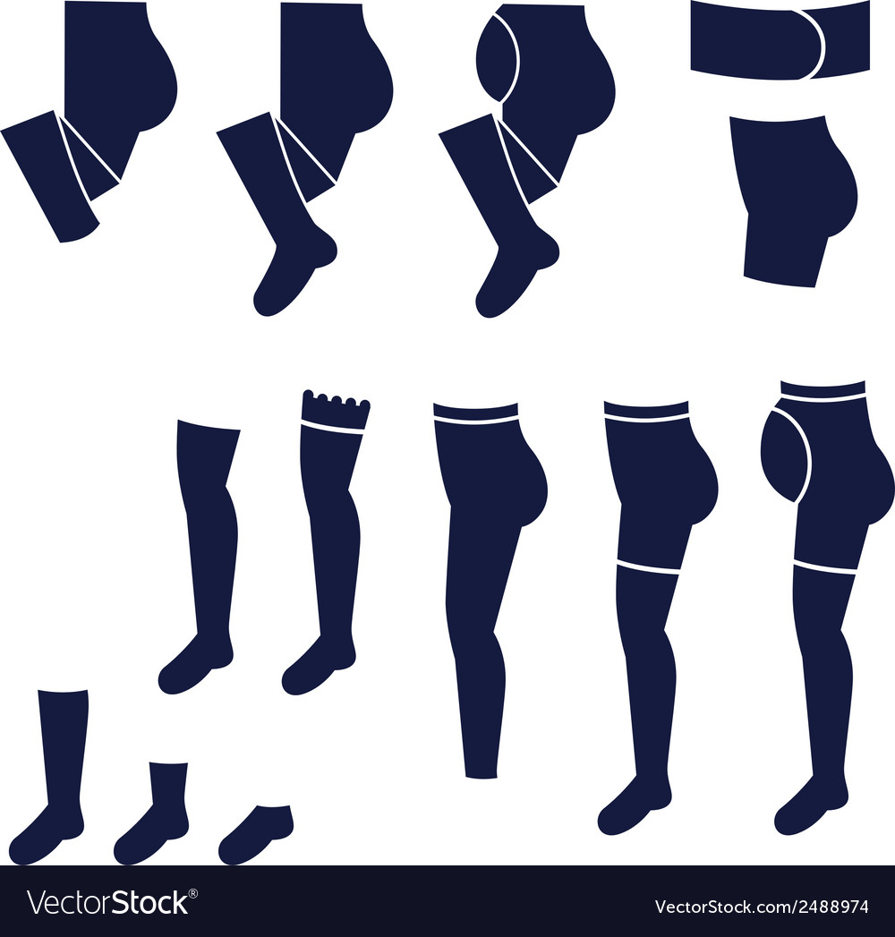 Different types of socks tights and stock vector | Price: 1 Credit (USD $1)