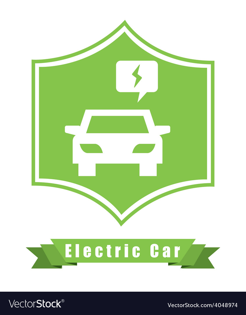 Electric car vector | Price: 1 Credit (USD $1)
