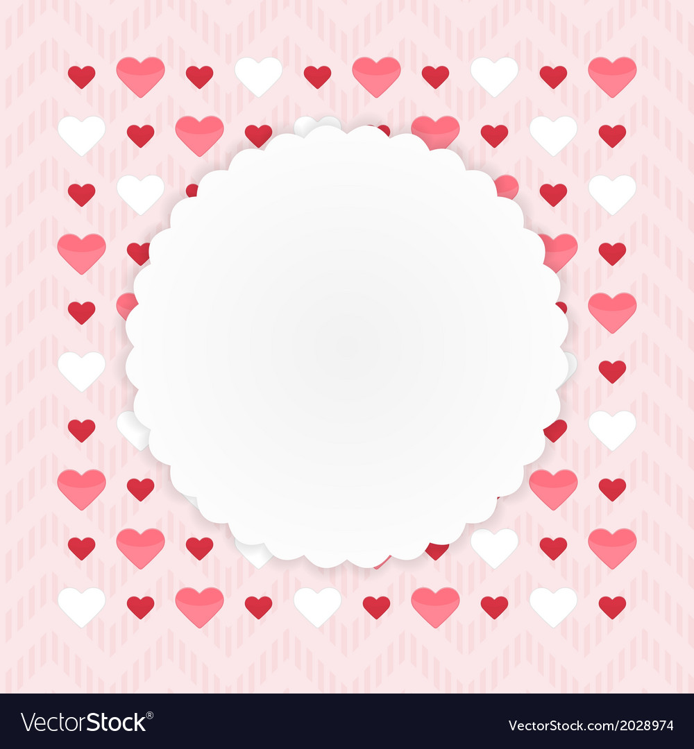 Greeting card with hearts on a pink vector | Price: 1 Credit (USD $1)