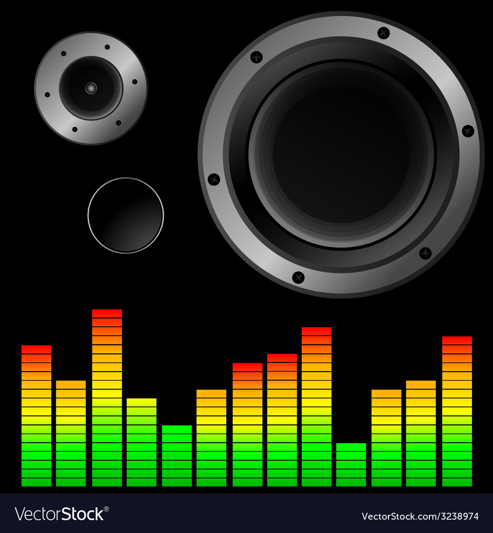 Music background with speaker vector | Price: 1 Credit (USD $1)