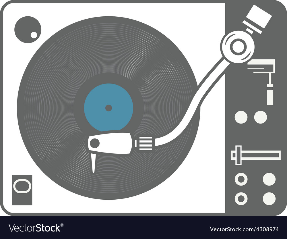 Record player vinyl record isolated vector | Price: 1 Credit (USD $1)