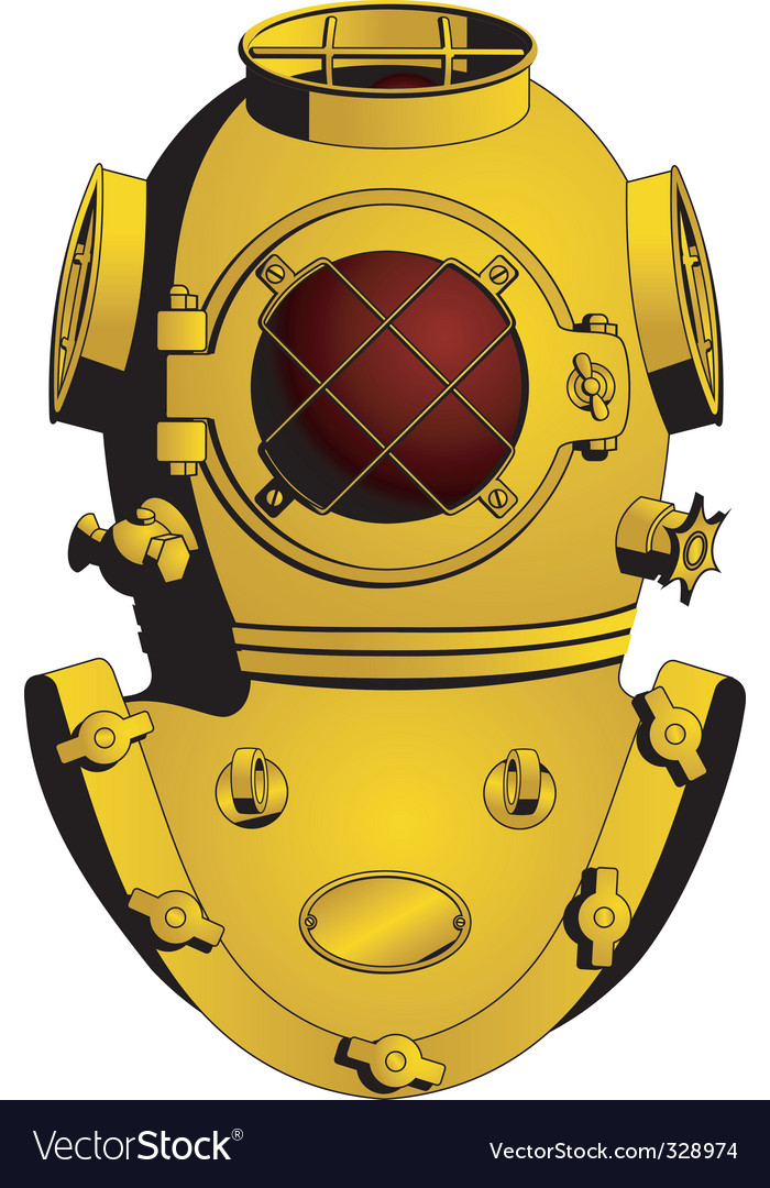 Retro diving helmet vector | Price: 1 Credit (USD $1)