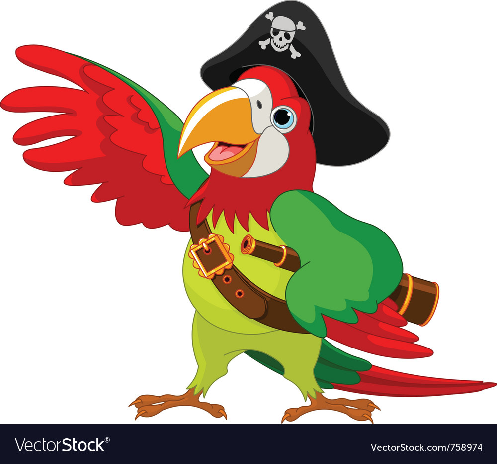 Talking pirate parrot vector | Price: 3 Credit (USD $3)