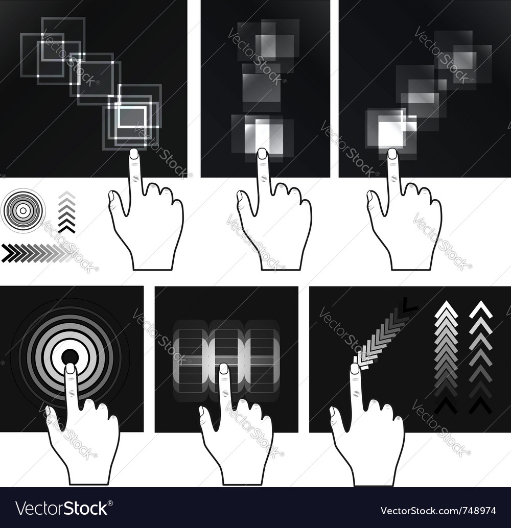 Touch screen vector | Price: 1 Credit (USD $1)