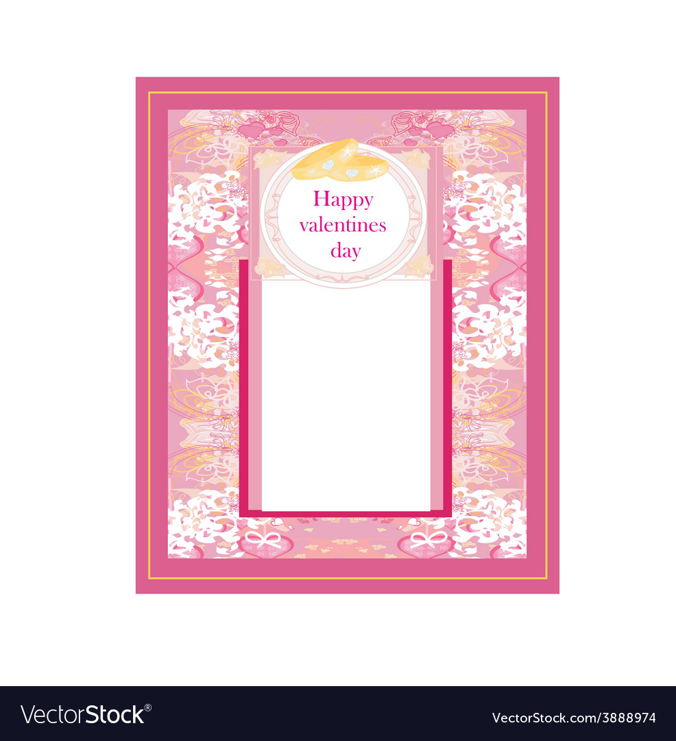 Vintage wedding card with rings vector | Price: 1 Credit (USD $1)