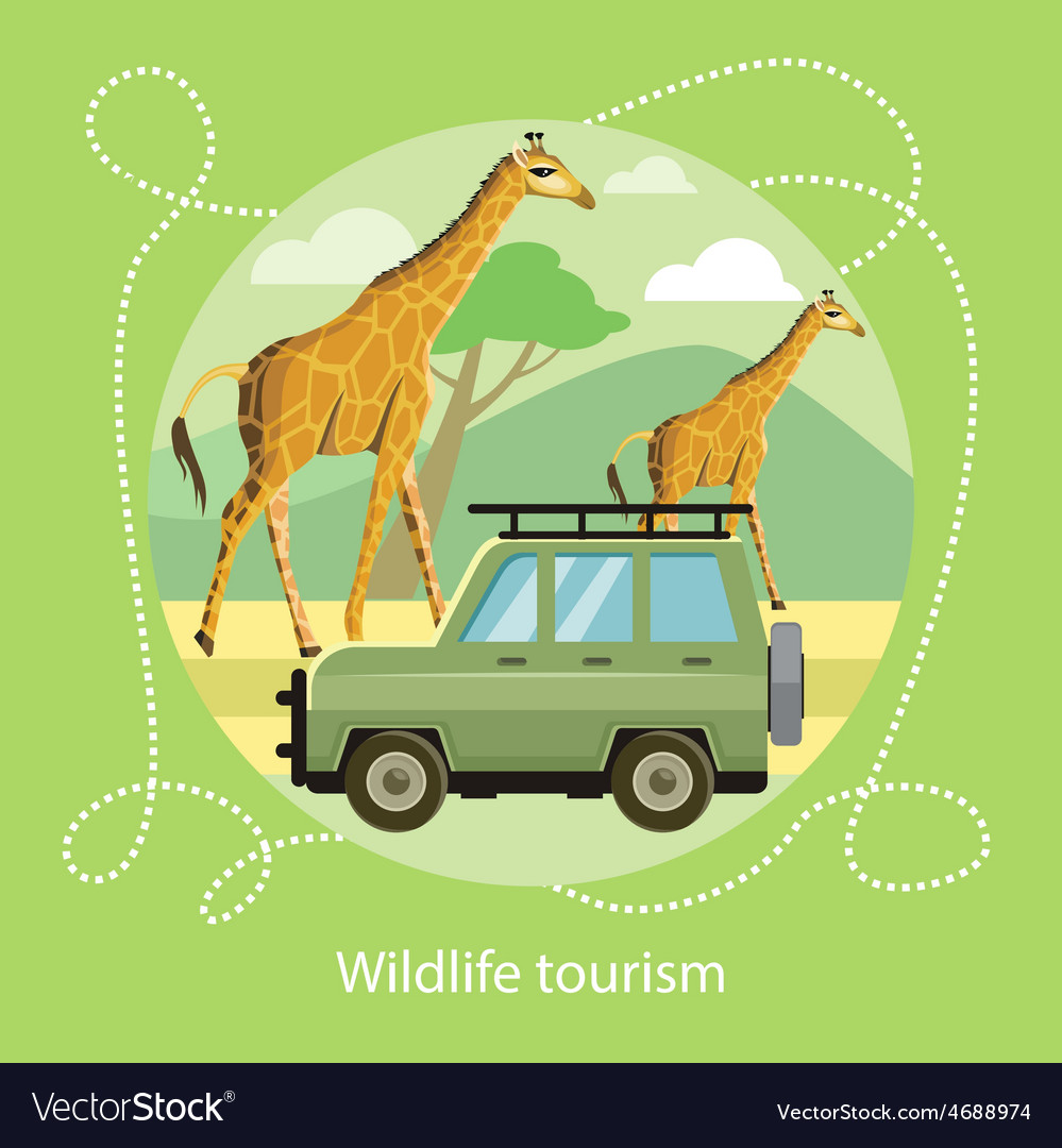 Wildlife tourism icon of traveling vacation vector | Price: 1 Credit (USD $1)