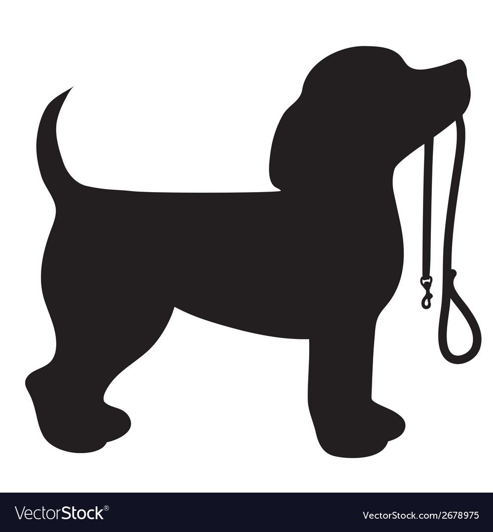 Beagle leash vector