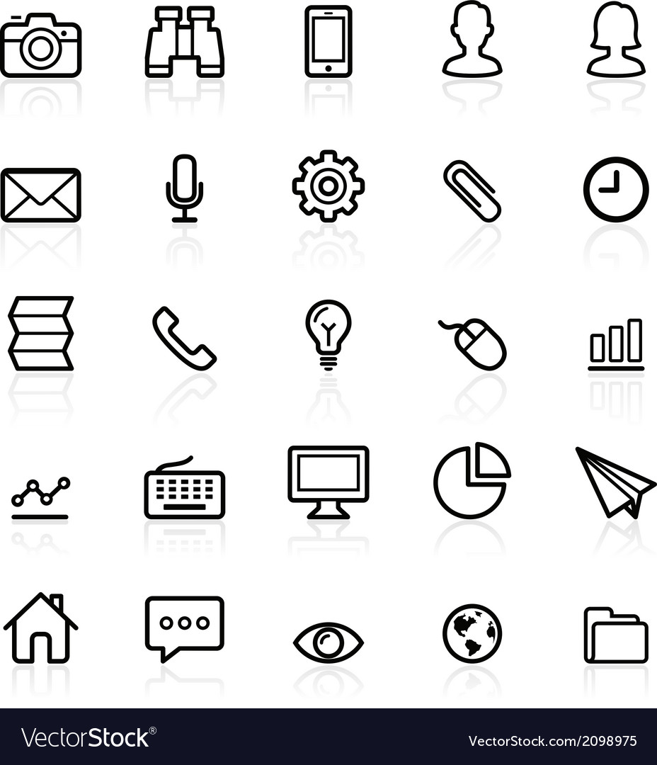 Business line icons vector | Price: 1 Credit (USD $1)