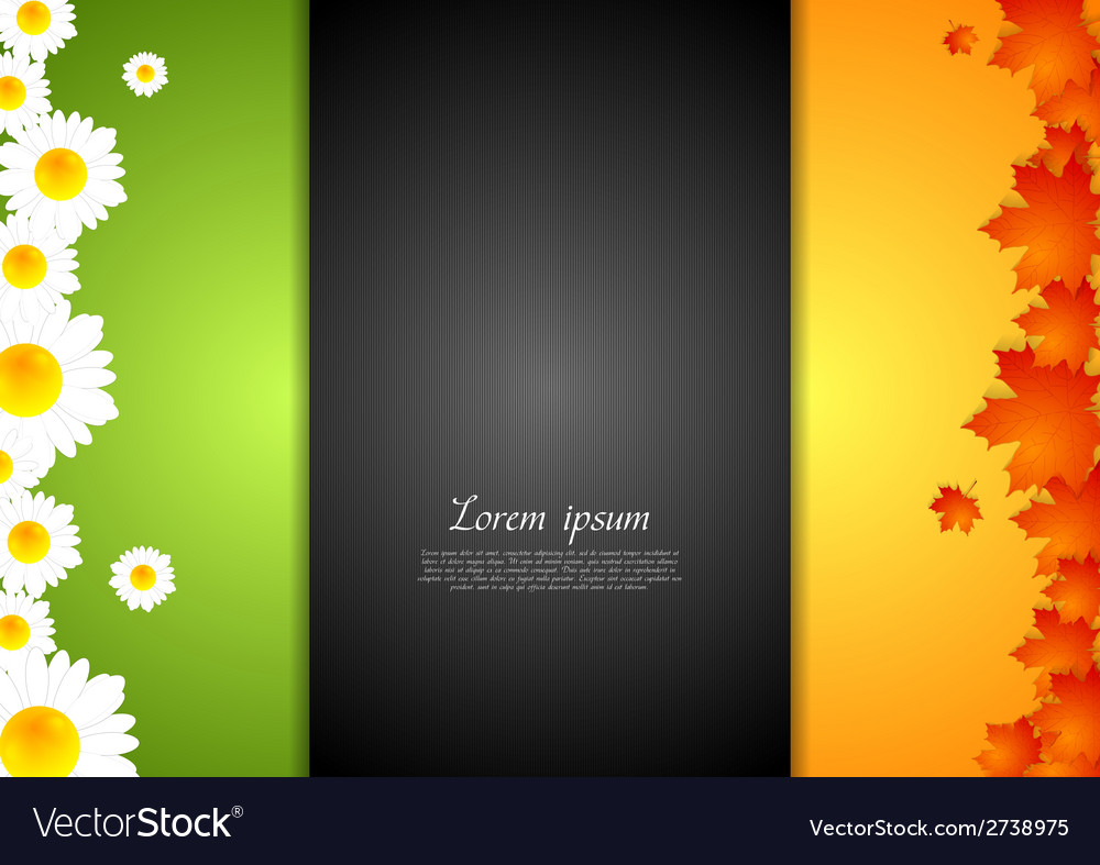 Concept summer and autumn design template vector | Price: 1 Credit (USD $1)