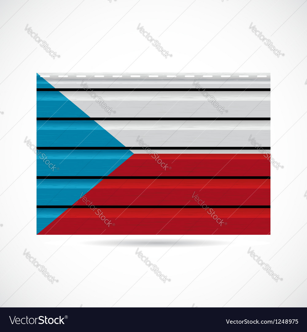 Czech republic siding produce company icon vector | Price: 1 Credit (USD $1)