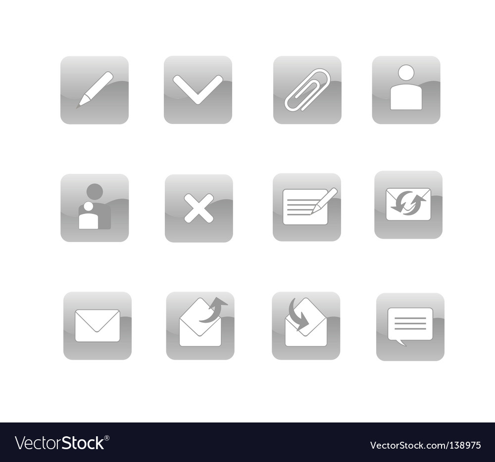 Email web icon vector | Price: 1 Credit (USD $1)