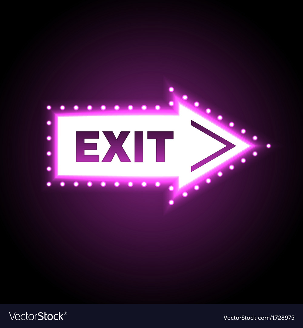 Glossy arrow with exit message vector | Price: 1 Credit (USD $1)