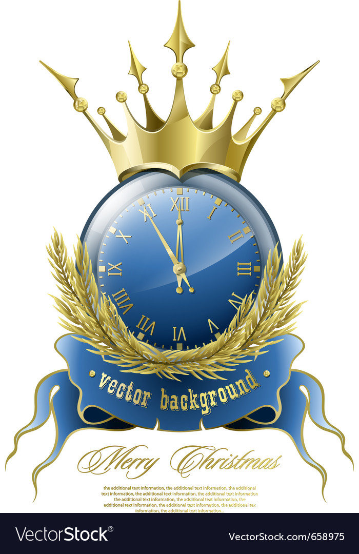 New year clock vector | Price: 3 Credit (USD $3)