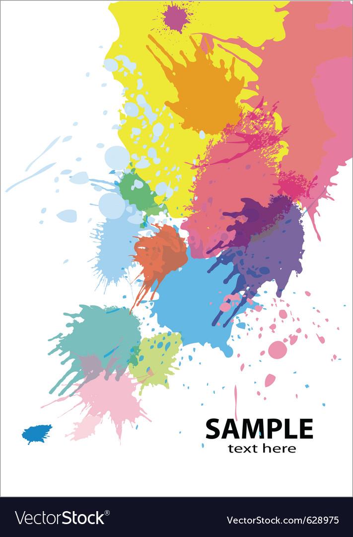 Paint splatter background vector | Price: 1 Credit (USD $1)