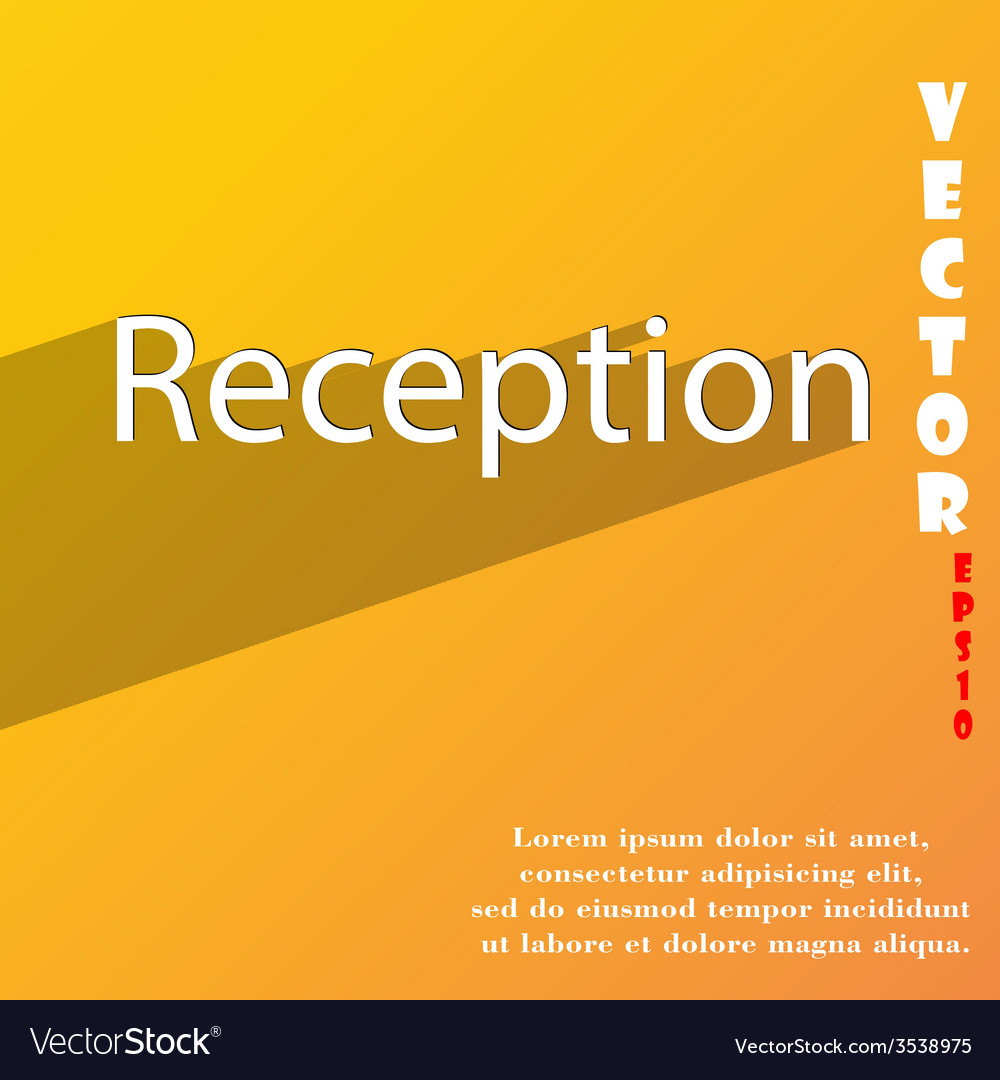 Reception icon symbol flat modern web design with vector | Price: 1 Credit (USD $1)