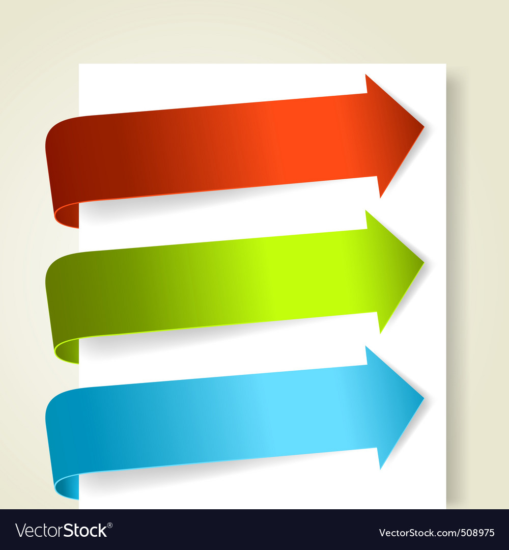 Set of colorful arrows vector | Price: 1 Credit (USD $1)