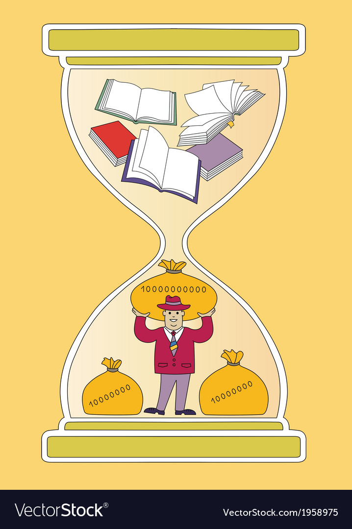 Time and books vector | Price: 1 Credit (USD $1)