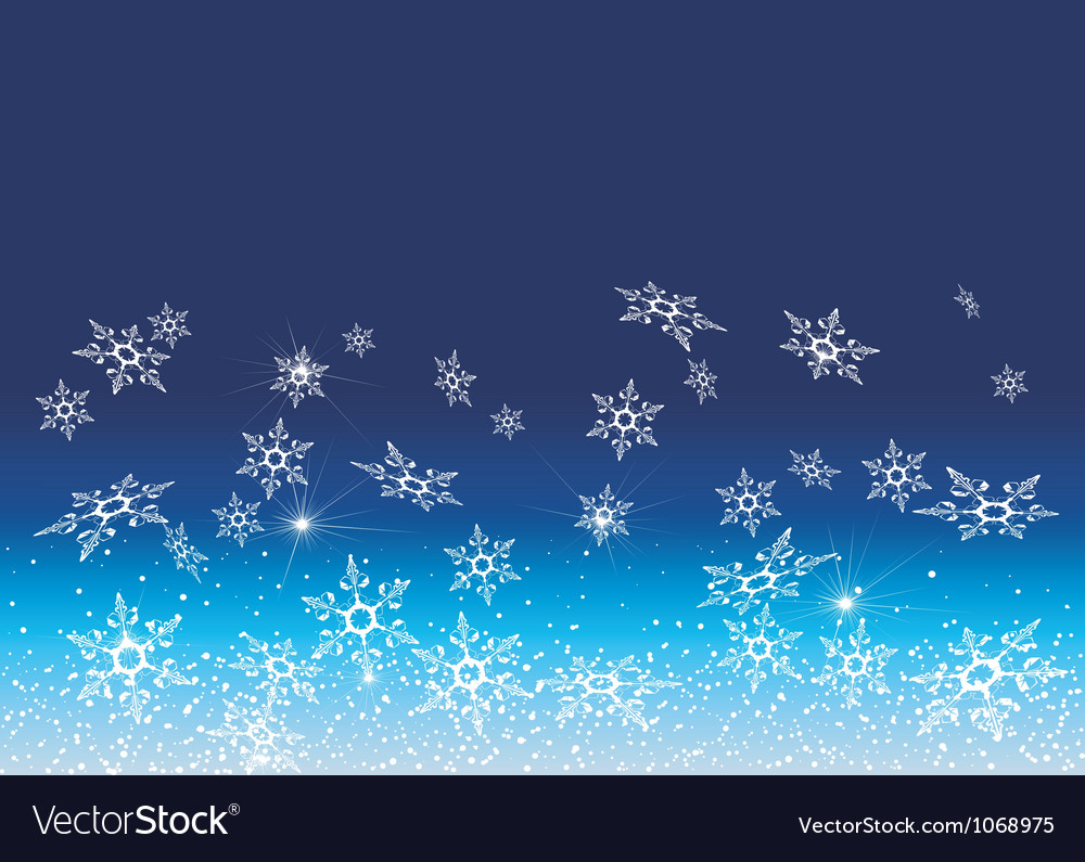 White snowflakes on a blue background vector | Price: 1 Credit (USD $1)