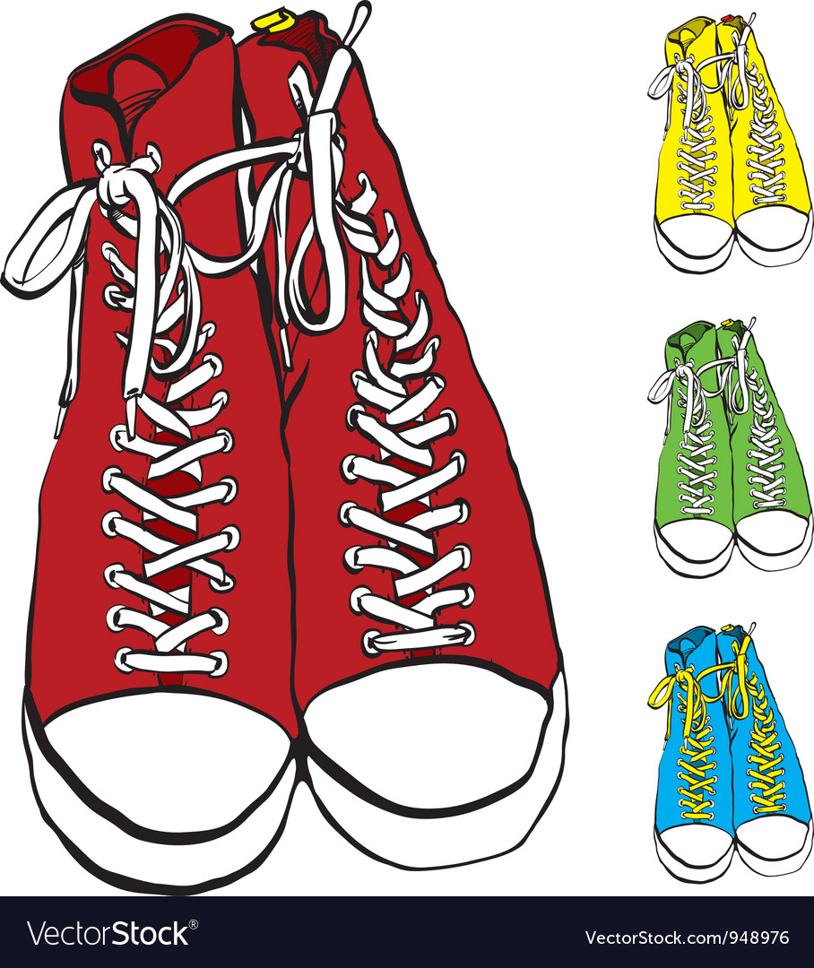 A pair of sneakers vector | Price: 1 Credit (USD $1)