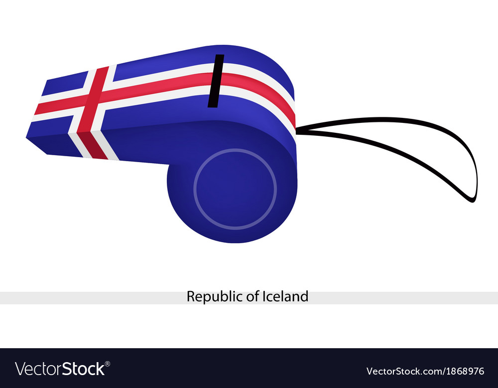 A whistle of the republic of iceland vector | Price: 1 Credit (USD $1)