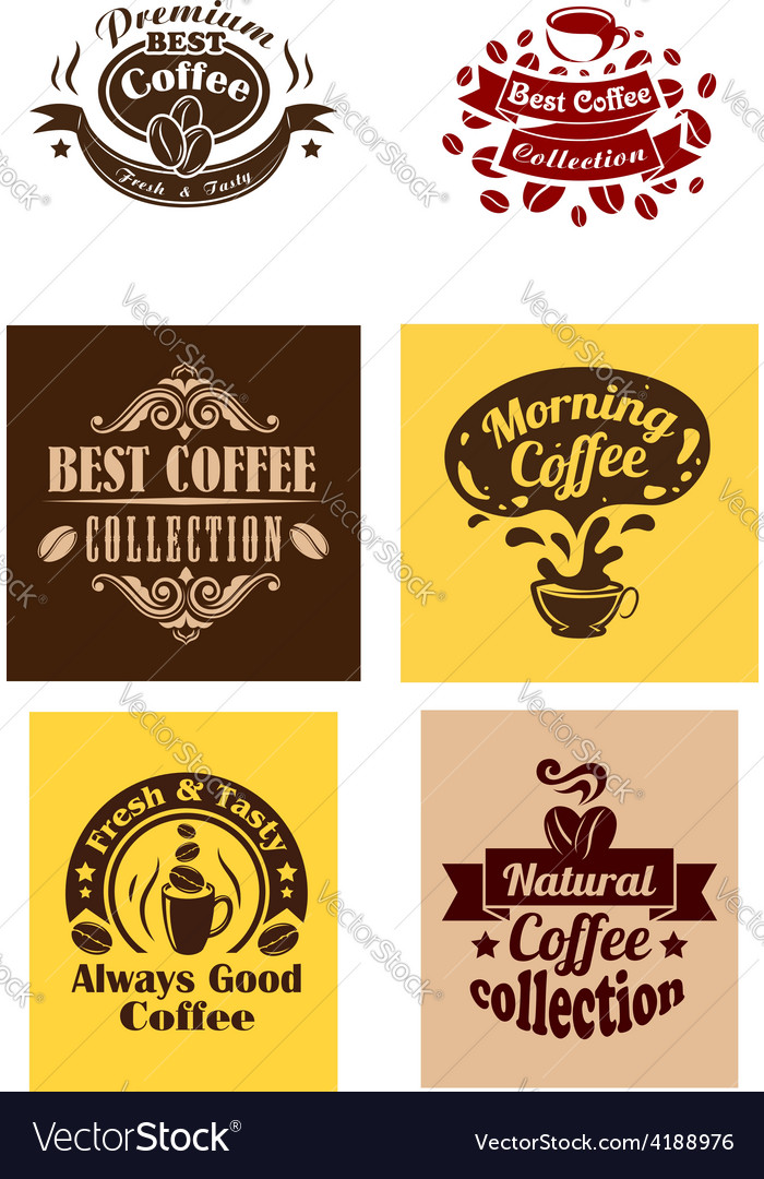 Best coffee logos and banners vector | Price: 1 Credit (USD $1)