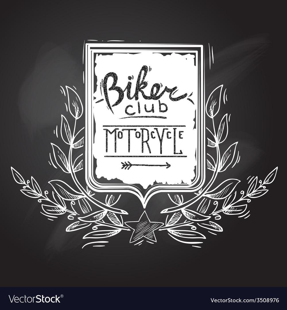 Biker club emblem vector | Price: 1 Credit (USD $1)