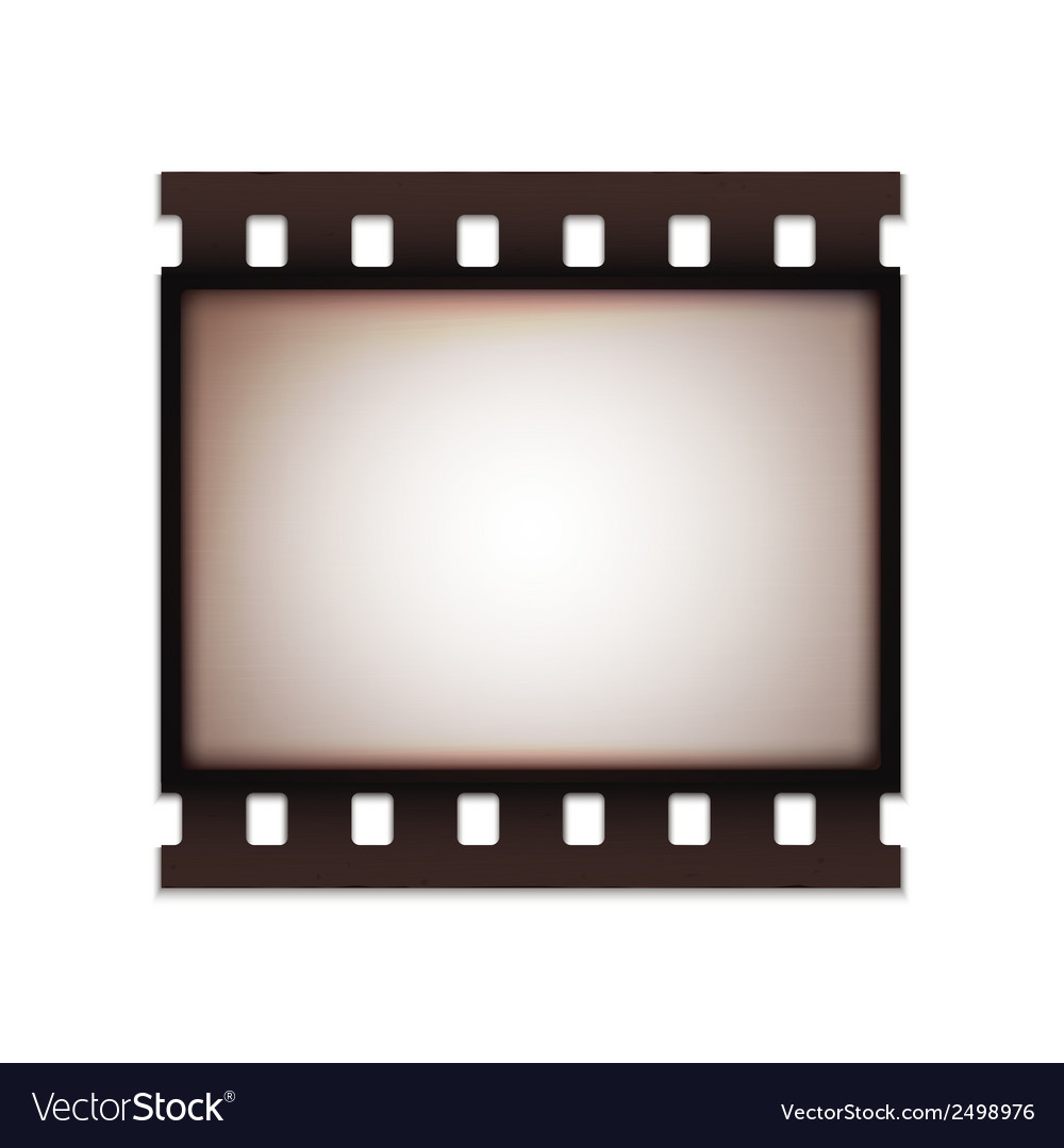 Blank realistic vintage retro old film strip vector | Price: 1 Credit (USD $1)