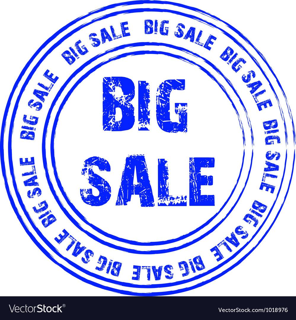 Blue stamp for big sale vector   Price: 1 Credit (USD $1)