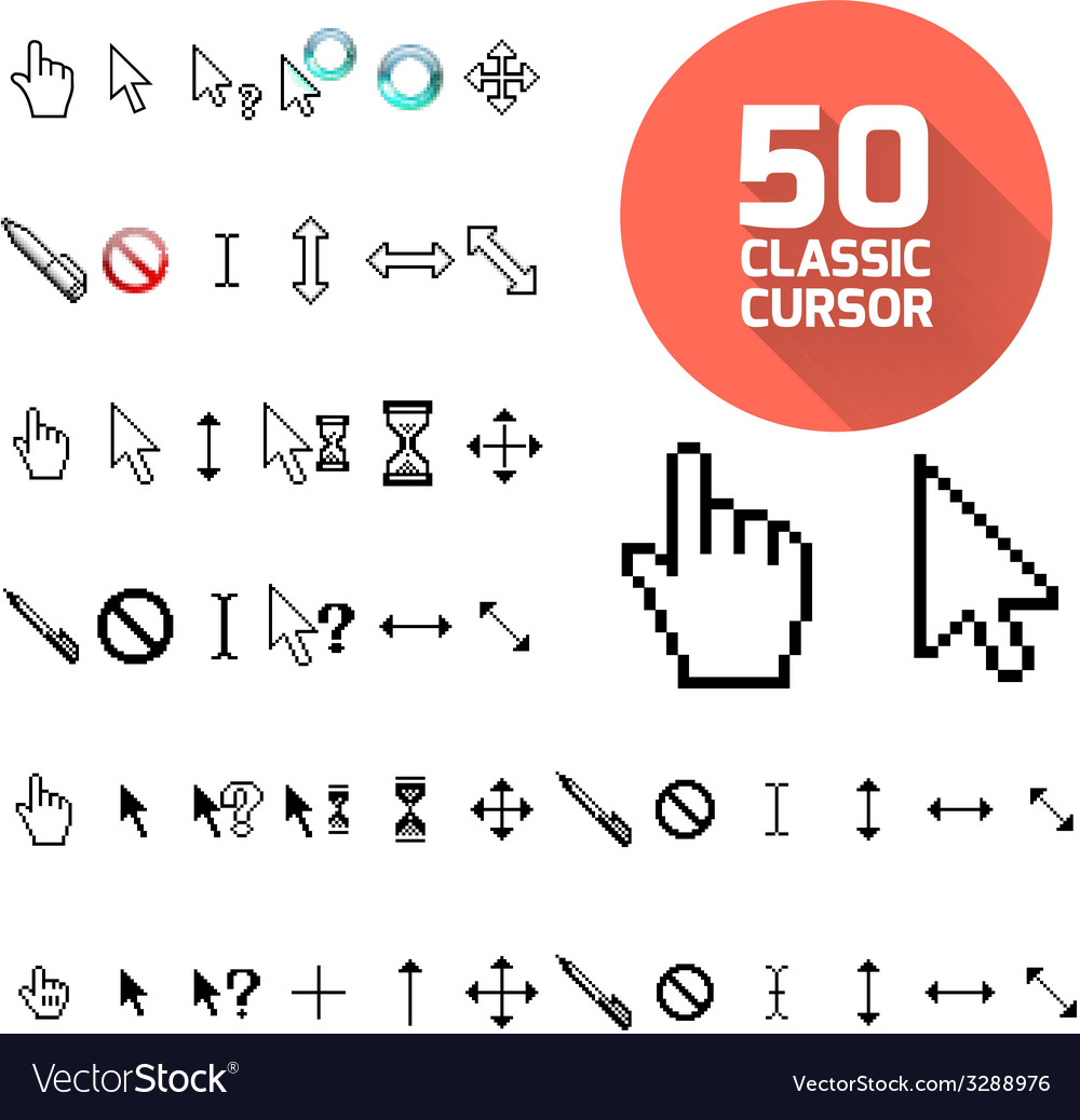 Classic cursor pack vector | Price: 1 Credit (USD $1)