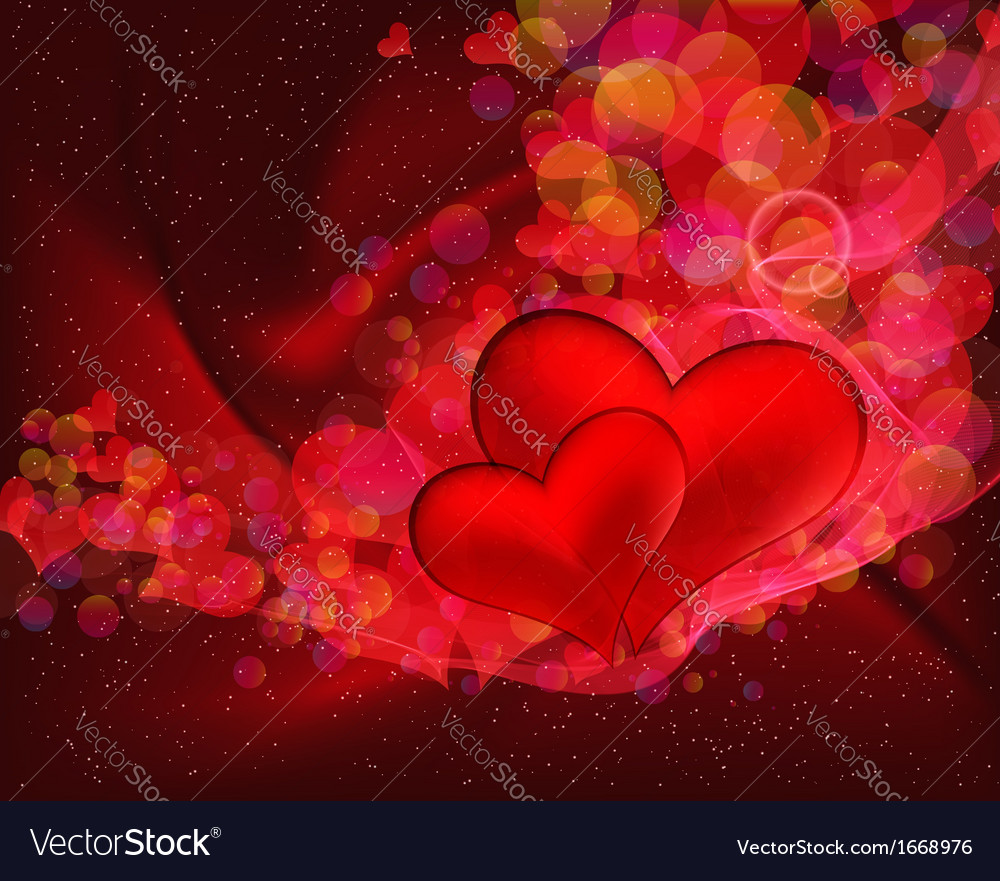 Flying hearts abstract background with space for vector | Price: 1 Credit (USD $1)
