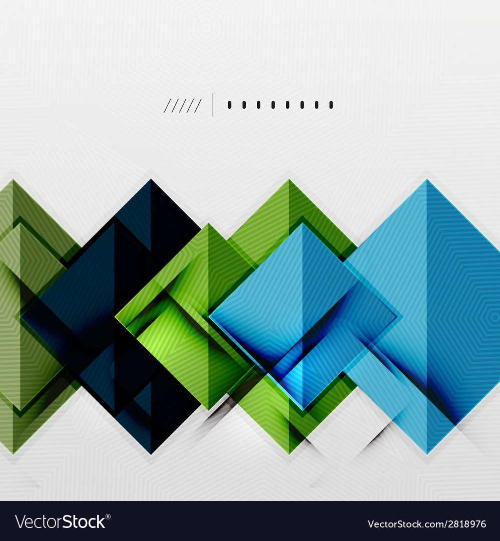 Geometric squares and rhombus futuristic template vector | Price: 1 Credit (USD $1)