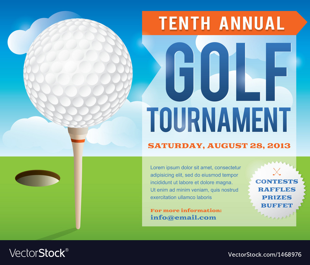 Golf tournament invitation design vector | Price: 1 Credit (USD $1)