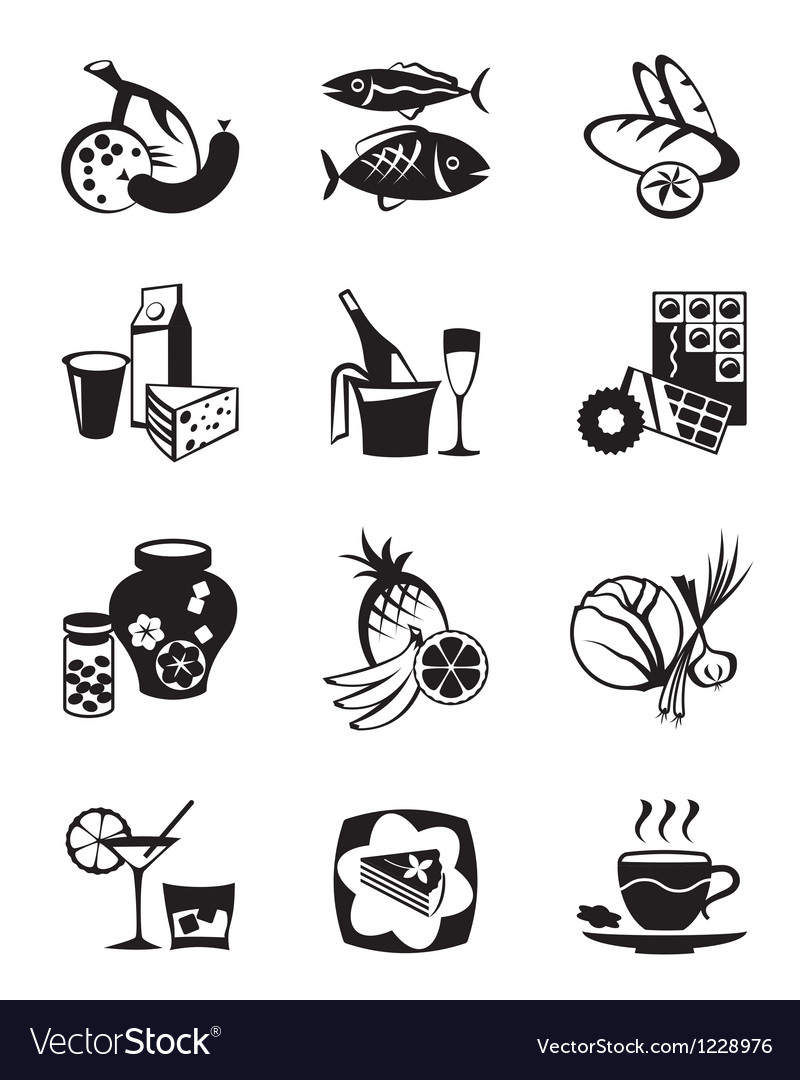 Grocery store and confectionery icons set vector | Price: 1 Credit (USD $1)