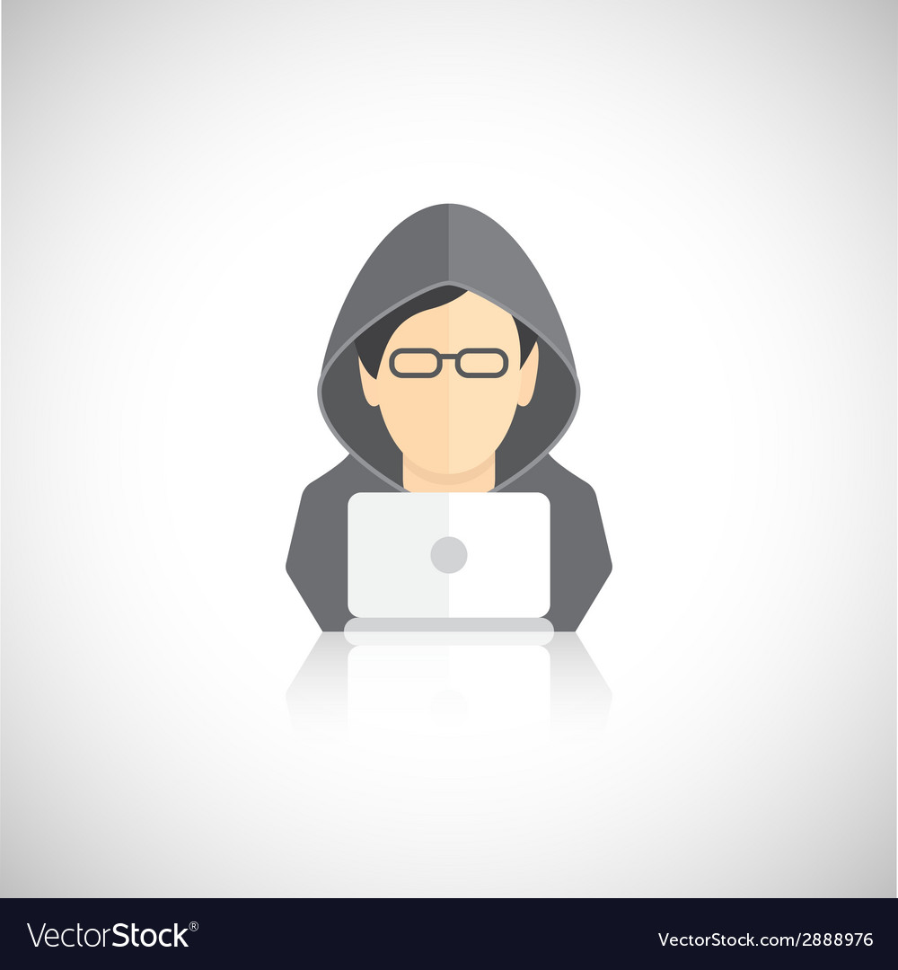 Hacker icons flat vector | Price: 1 Credit (USD $1)