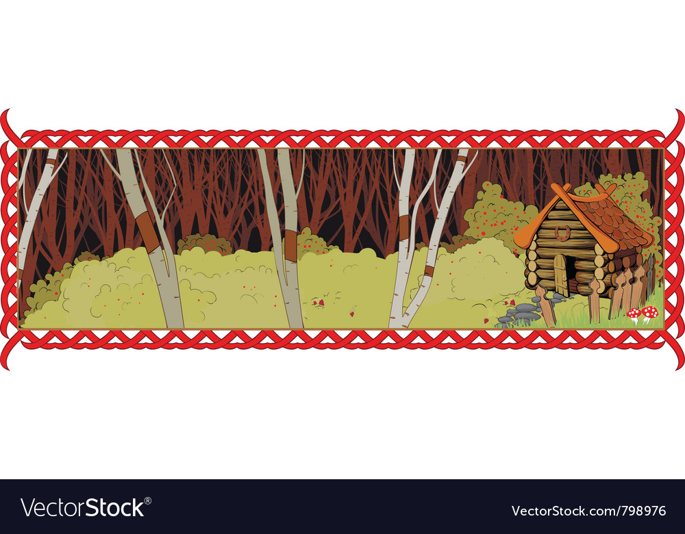 House in the fairy forest vector | Price: 1 Credit (USD $1)