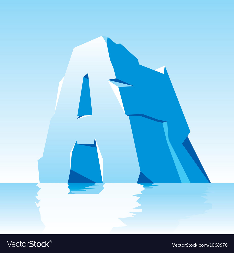 Ice letter a vector | Price: 1 Credit (USD $1)