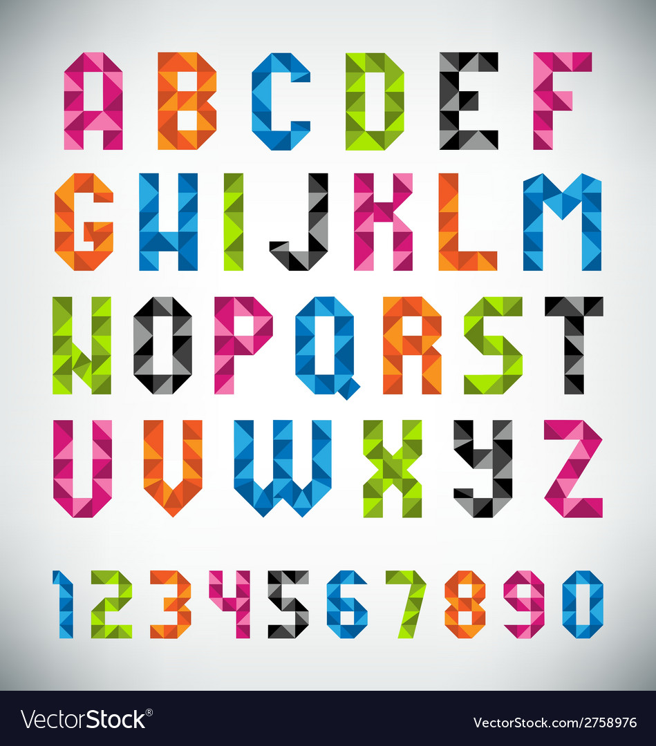 Mosaic font vector | Price: 1 Credit (USD $1)