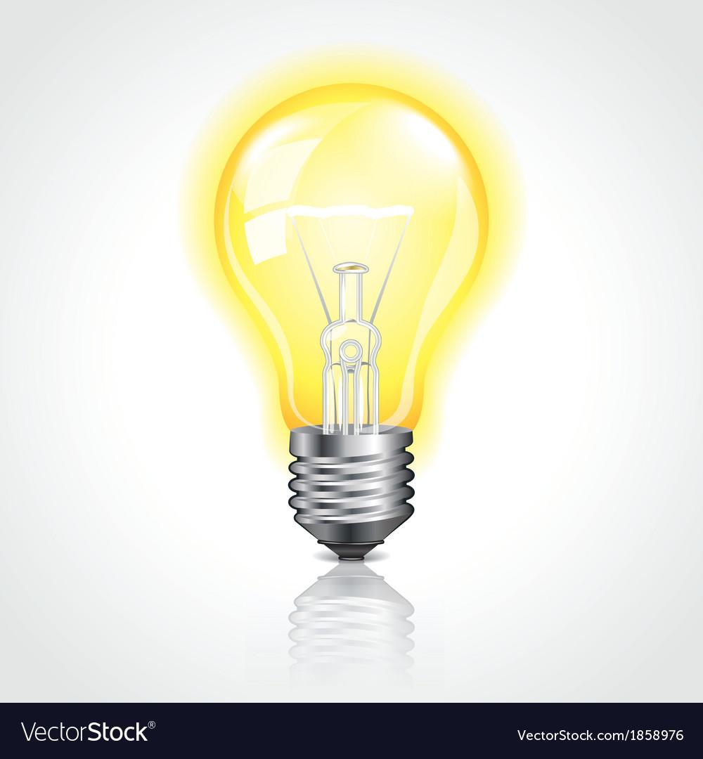 Object bulb on vector
