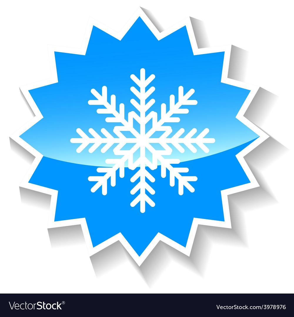 Snowflake blue icon vector | Price: 1 Credit (USD $1)