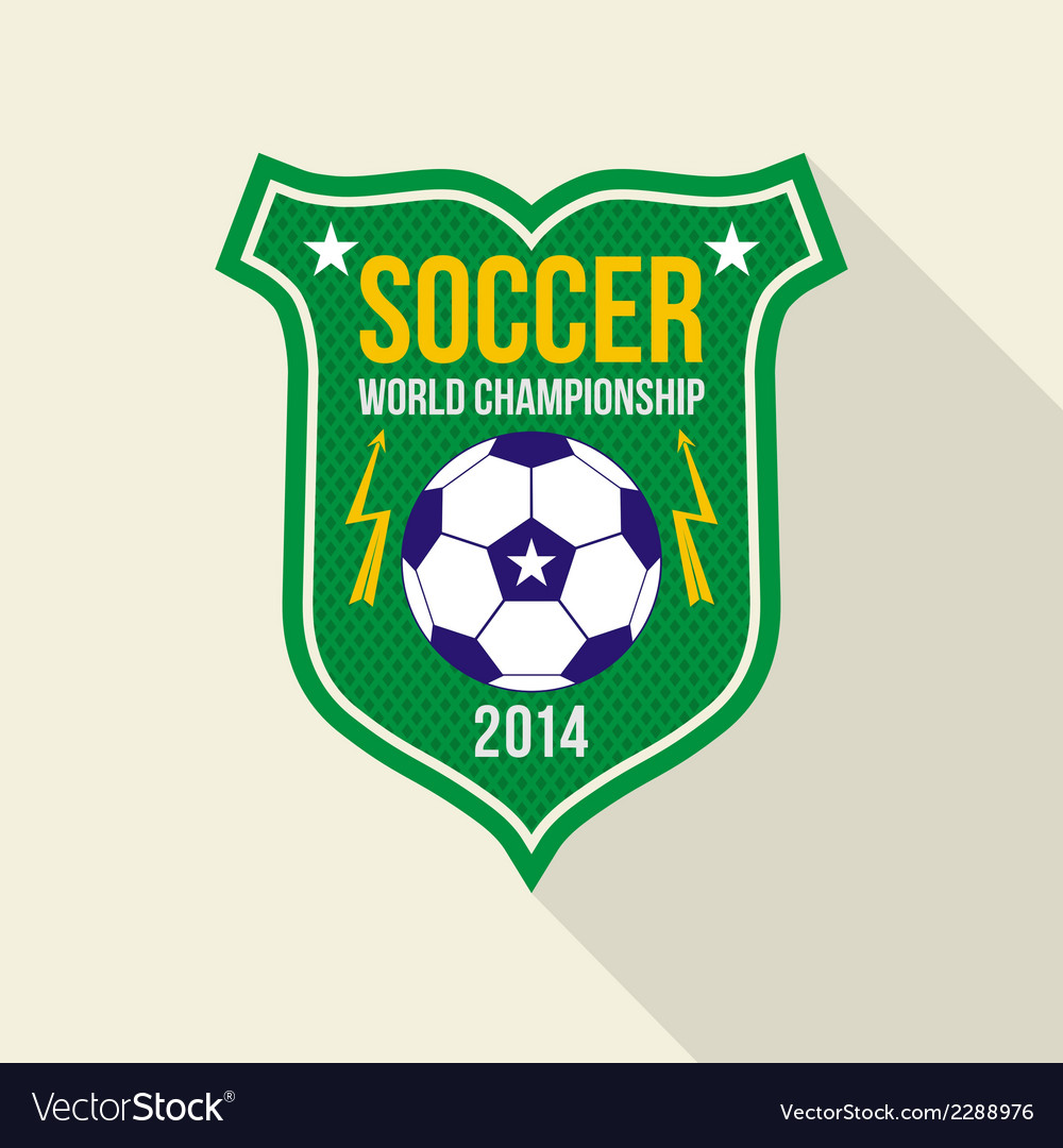 Soccer world championship emblem vector | Price: 1 Credit (USD $1)